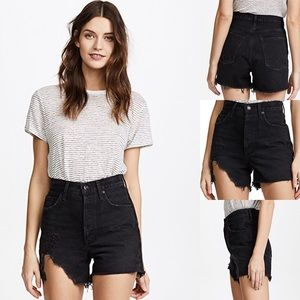 AGOLDE Ultra High Rise Destroyed Shorts